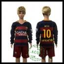 Barcelona Camisas Du Futebol Messi Manga Longa 2015/2016 I Infantil