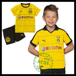 Borussia Dortmund Uniforme De Futebol 2015 2016 I Infantil