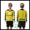 Borussia Dortmund Uniforme Futebol Manga Longa 2015-2016 I Infantil