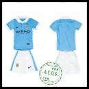 Manchester City Camisa Futebol 2015-2016 I Infantil