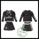 Real Madrid Camisas De Futebol Manga Longa Goleiro 2015 2016 I Infantil