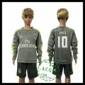 Real Madrid Camisetas James Manga Longa 2015-2016 Ii Infantil