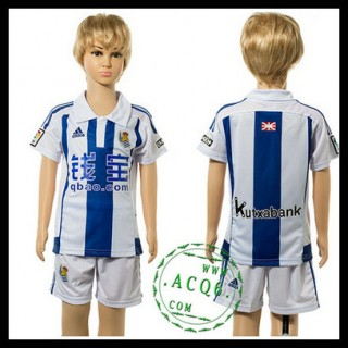 Real Sociedad Camisa Futebol 2015/2016 I Infantil