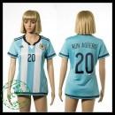 Argentina Camisetas Kun Aguero 2015 2016 I Feminina