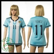 Argentina Camisa De Futebol Tevez 2015-2016 I Feminina