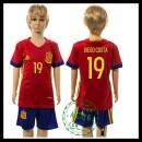 Espanha Camisa De Futebol Diego Costa Euro 2016 I Infantil