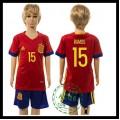 Espanha Camisas Du Futebol Ramos Euro 2016 I Infantil