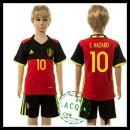 Bélgica Camisas De Futebol E.Hazard Euro 2016 I Infantil