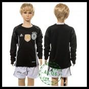 Alemanha Camisa Futebol Manga Longa Goleiro Euro 2016 I Infantil