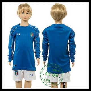 Itália Uniforme De Futebol Manga Longa Euro 2016 I Infantil