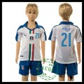 Itália Uniforme Futebol Pirlo Euro 2016 Ii Infantil