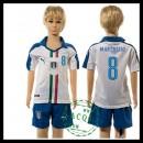Itália Uniformes De Futebol Marchisio Euro 2016 Ii Infantil