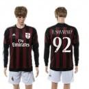 Ac Milan Uniforme De Futebol El Shaarawy Manga Longa 2015/2016 I Masculina