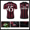 Camisas Futebol Ac Milan (45 Balotelli) 2015/2016 I Masculina