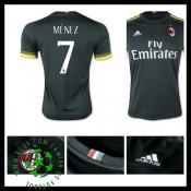 Camisas Futebol Ac Milan (7 Menez) 2015 2016 Iii Masculina