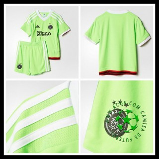 Uniforme Futebol Ajax 2015-2016 Ii Infantil