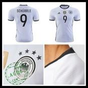 Uniforme De Futebol (9 Schurrle) Alemanha Autêntico I Euro 2016 Masculina