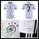 Uniformes De Futebol (7 Schweinsteiger) Alemanha Autêntico I Euro 2016 Masculina