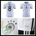 Camisa Futebol (8 Ozil) Alemanha Autêntico I Euro 2016 Masculina