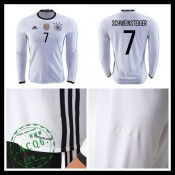 Uniformes Futebol (7 Schweinsteiger) Alemanha Autêntico I Manga Longa Euro 2016 Masculina