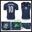 Velho Camisa Du Futebol Maradona Argentina Masculina 2016-2017 Ii On-Line