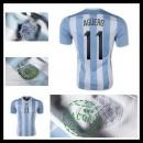 Camisa Futebol Argentina (11 Aguero) 2015-2016 I Masculina