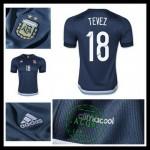 Camisas Futebol Argentina (18 Tevez) 2015/2016 Ii Masculina