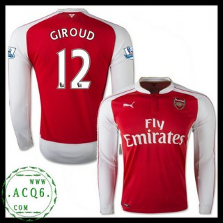 Venda Camisa Futebol Manga Longa Giroud Arsenal Masculina 2015 2016 I Loja On-Line