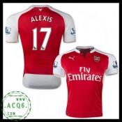 De Criação Camisas Alexis Arsenal Masculina 2015 2016 I Loja On-Line
