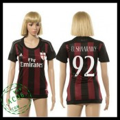 Ac Milan Camisa Futebol El Shaarawy 2015 2016 I Feminina
