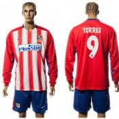 Atlético De Madrid Camisa F Torres Manga Longa 2015-2016 I Masculina