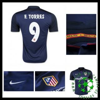 Camisas Atlético De Madrid (9 F.Torres) 2015 2016 Ii Masculina