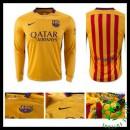 Camisa Futebol Barcelona Manga Longa 2015/2016 Ii Masculina