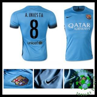 Camisas Du Futebol Barcelona (8 A.Iniesta) 2015 2016 Iii Masculina