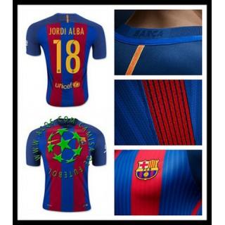 Venda Uniforme De Futebol Jordi Alba Barcelona Masculina 2016 2017 I Mais Barato Online