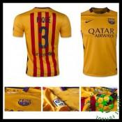 Camisa Futebol Barcelona (3 Pique) 2015 2016 Ii Masculina