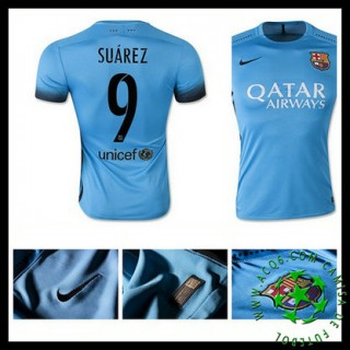 Camisas Futebol Barcelona (9 Suarez) 2015/2016 Iii Masculina