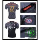 Camisetas Bayern Munich Alaba 2016-2017 Ii Masculina