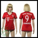 Bayern München Camisas De Futebol Lewandowski 2015-2016 I Feminina