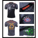 Camisa Du Futebol Bayern Munich Muller 2016-2017 Ii Masculina