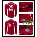 Camisas Futebol Bayern Munich Muller Manga Longa 2016 2017 I Masculina