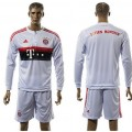 Bayern München Camisas Futebol Manga Longa 2015-2016 Ii Masculina