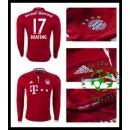 Uniforme Futebol Bayern Munich Boateng Manga Longa 2016/2017 I Masculina
