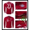 Camisas Futebol Bayern Munich Vidal Manga Longa 2016-2017 I Masculina