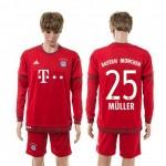 Bayern München Camisas Du Futebol Muller Manga Longa 2015 2016 I Masculina