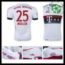 Camisetas Bayern München (25 Muller) 2015/2016 Ii Masculina