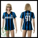 Inter Milão Camisas Futebol Shaqiri 2015-2016 I Feminina