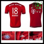 Camisa Du Futebol Bayern München (18 Bernat) 2015/2016 I Masculina