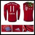 Camisetas Bayern München (11 Costa) Manga Longa 2015 2016 I Masculina