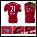 Camisas De Futebol Bayern München (21 Lahm) 2015/2016 I Masculina